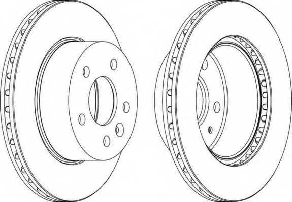 Тормозной диск FERODO DDF860 - изображение