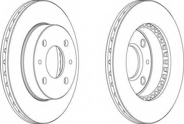 Тормозной диск FERODO DDF866 - изображение 1