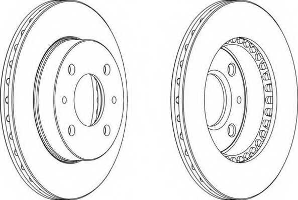 Тормозной диск FERODO DDF866 - изображение