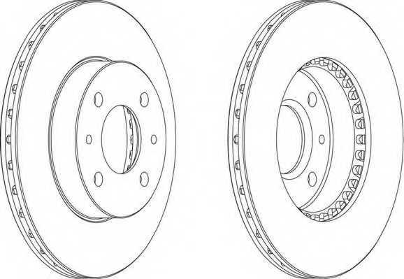Тормозной диск FERODO DDF867 - изображение 1