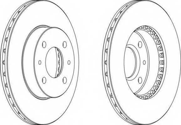 Тормозной диск FERODO DDF867 - изображение