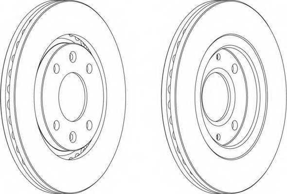 Тормозной диск FERODO DDF870 - изображение 1
