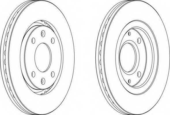 Тормозной диск FERODO DDF870 - изображение