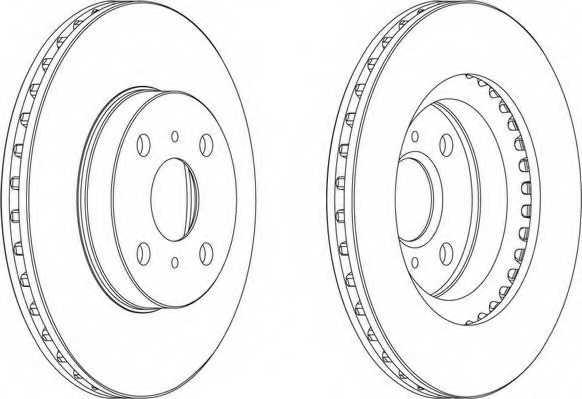 Тормозной диск FERODO DDF881 - изображение 1