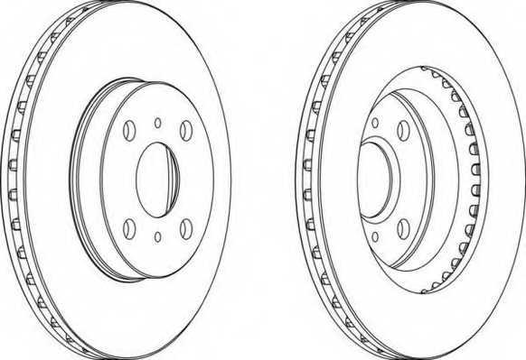 Тормозной диск FERODO DDF881 - изображение