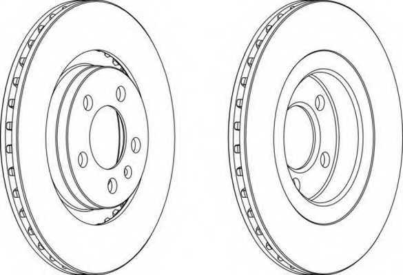 Тормозной диск FERODO DDF928 - изображение