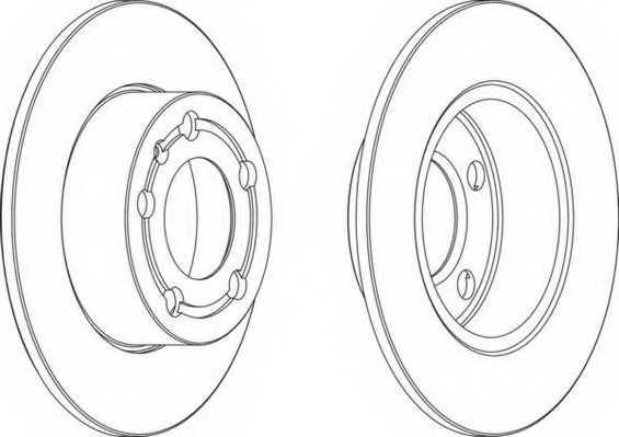 Тормозной диск FERODO DDF929 - изображение