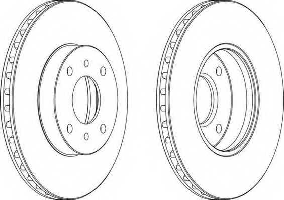 Тормозной диск FERODO DDF959 - изображение