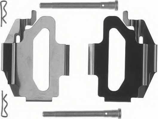 Комплектующие колодок дискового тормоза FERODO FBA512 - изображение