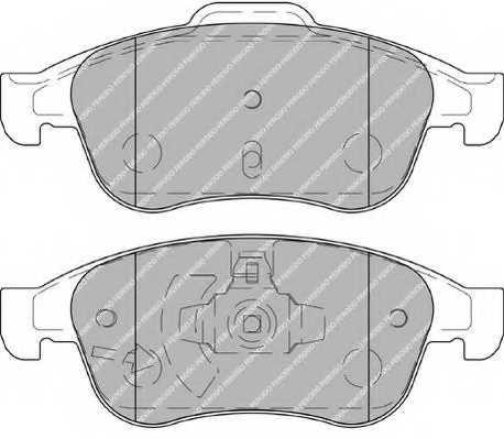 Колодки тормозные дисковые FERODO 24538 / FDB4180 - изображение 1