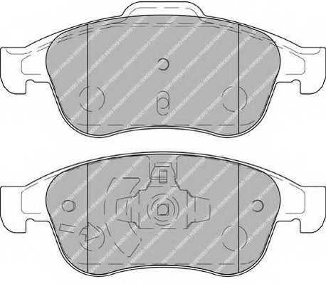 Колодки тормозные дисковые FERODO 24538 / FDB4180 - изображение