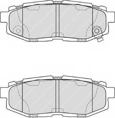 Колодки тормозные дисковые задний для SUBARU BRZ, LEGACY(BM,BR), TRIBECA(B9) / TOYOTA GT 86(ZN6#) <b>FERODO FDB4187 / 24854</b> - изображение