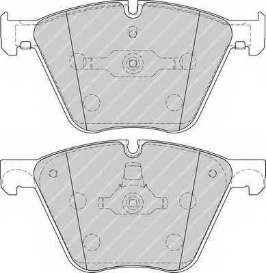 Колодки тормозные дисковые FERODO 24436 / FDB4287 - изображение