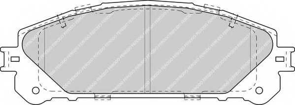 Колодки тормозные дисковые FERODO 24452 / FDB4354 - изображение