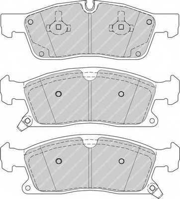 Колодки тормозные дисковые FERODO 25190 / FDB4403 - изображение