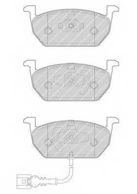 Колодки тормозные дисковые FERODO FDB4454 - изображение