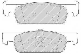 Колодки тормозные дисковые передний для RENAULT CLIO, LOGAN, THALIA(LU1/2#), TWINGO <b>FERODO FDB4615</b> - изображение