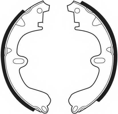 Комплект тормозных колодок задний для MAZDA 323 / TOYOTA CAMRY, CARINA E, CARINA, CELICA, COROLLA, CORONA, CURREN, SPRINTER CARIB <b>FERODO FSB208</b> - изображение