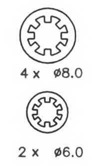Комплект тормозных колодок задний для RENAULT 11, 19, 21, 9, CLIO, RAPID, SUPER 5, TWINGO <b>FERODO FSB243</b> - изображение 2