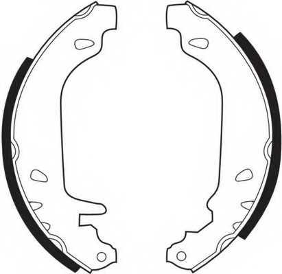 Комплект тормозных колодок задний для RENAULT 11, 19, 21, 9, CLIO, RAPID, SUPER 5, TWINGO <b>FERODO FSB243</b> - изображение