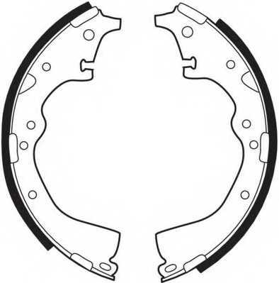 Комплект тормозных колодок задний для TOYOTA CROWN, HIACE, HILUX, LAND CRUISER, LITEACE, MODELL F, PREVIA <b>FERODO FSB284</b> - изображение