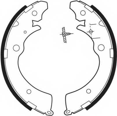 Комплект тормозных колодок задний для HONDA ACCORD, AIRWAVE, CAPA, CIVIC, CONCERTO, CR, FR, HR, SMX / SUZUKI CARRY, JIMNY <b>FERODO FSB318</b> - изображение