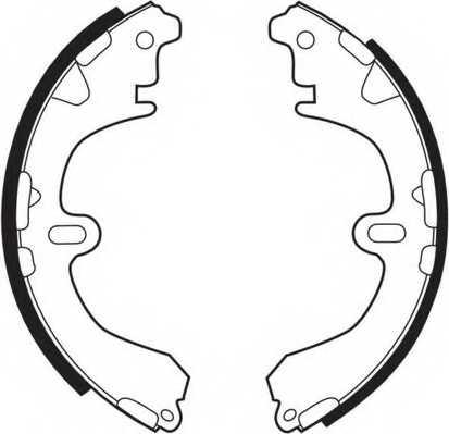 Комплект тормозных колодок задний для TOYOTA CAMRY(#V2#), COROLLA(##E11#, #E10#, #E11#, #E8#, #E9#), CORONA(CT14#, ST14#, TT14#) <b>FERODO FSB321</b> - изображение