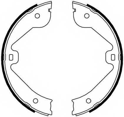 Комплект колодок стояночной тормозной системы FERODO FSB4000 - изображение