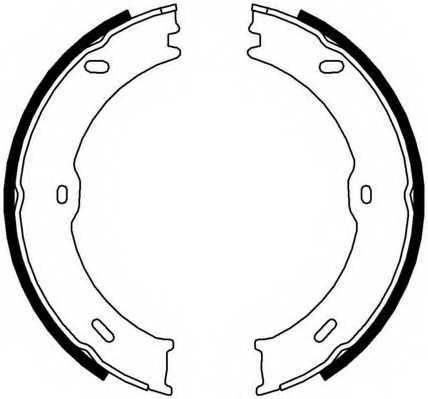 Комплект колодок стояночной тормозной системы FERODO FSB4001 - изображение