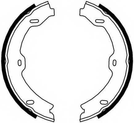 Комплект колодок стояночной тормозной системы FERODO FSB4002 - изображение