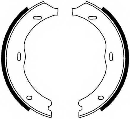 Комплект колодок стояночной тормозной системы FERODO FSB4003 - изображение