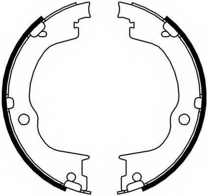 Комплект колодок стояночной тормозной системы FERODO FSB4006 - изображение
