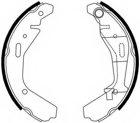 Комплект тормозных колодок FERODO FSB4007 - изображение