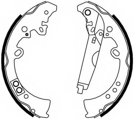 Комплект тормозных колодок FERODO FSB4010 - изображение