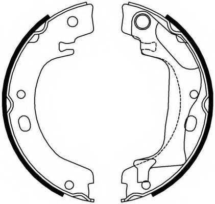 Комплект колодок стояночной тормозной системы FERODO FSB4011 - изображение