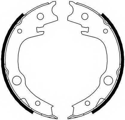 Комплект колодок стояночной тормозной системы FERODO FSB4014 - изображение