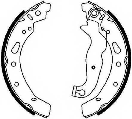 Комплект тормозных колодок задний для MAZDA 2(DE) <b>FERODO FSB4018</b> - изображение