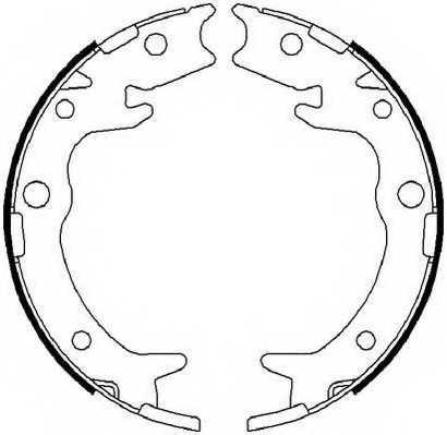 Комплект колодок стояночной тормозной системы FERODO FSB4019 - изображение