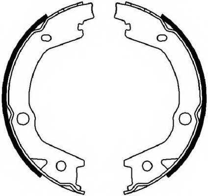 Комплект колодок стояночной тормозной системы FERODO FSB4021 - изображение