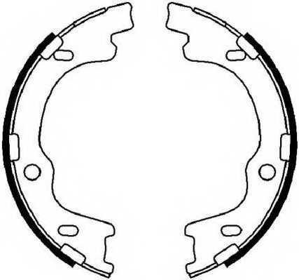 Комплект колодок стояночной тормозной системы FERODO FSB4022 - изображение