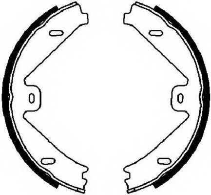 Комплект колодок стояночной тормозной системы FERODO FSB4026 - изображение
