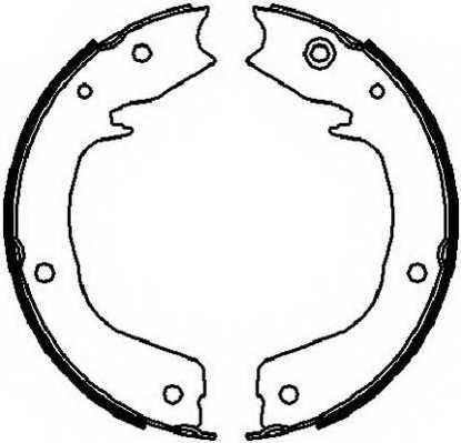 Комплект колодок стояночной тормозной системы FERODO FSB4027 - изображение