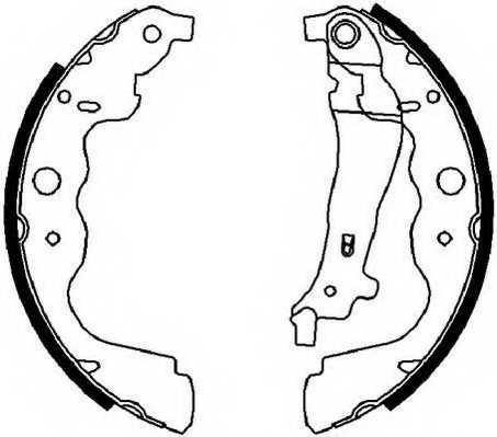 Комплект тормозных колодок задний для RENAULT CAPTUR, CLIO, DUSTER, KANGOO Express, KANGOO, LOGAN EXPRESS, LOGAN, THALIA, ZOE <b>FERODO FSB4031</b> - изображение