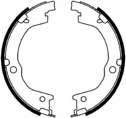 Комплект колодок стояночной тормозной системы FERODO FSB4049 - изображение