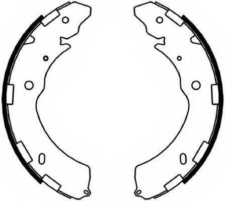 Комплект тормозных колодок задний для MITSUBISHI L 200(KA#T,KB#T,KJ#,KK#,KL#), PAJERO(KG#,KH#) <b>FERODO FSB4052</b> - изображение