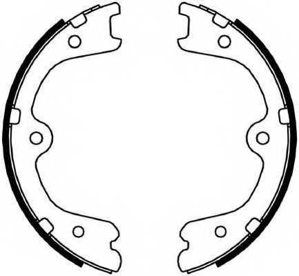 Комплект колодок стояночной тормозной системы FERODO FSB4054 - изображение