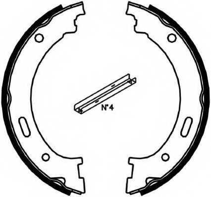 Комплект колодок стояночной тормозной системы FERODO FSB4058 - изображение