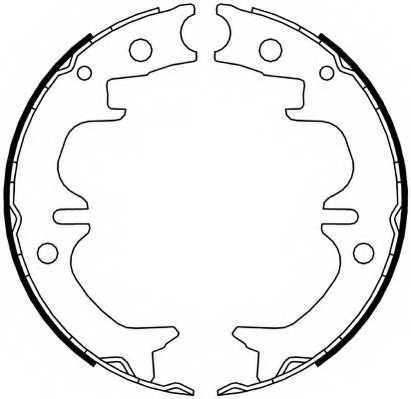 Комплект колодок стояночной тормозной системы FERODO FSB4069 - изображение