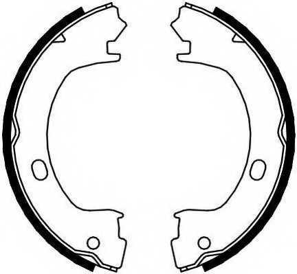 Комплект колодок стояночной тормозной системы FERODO FSB4073 - изображение