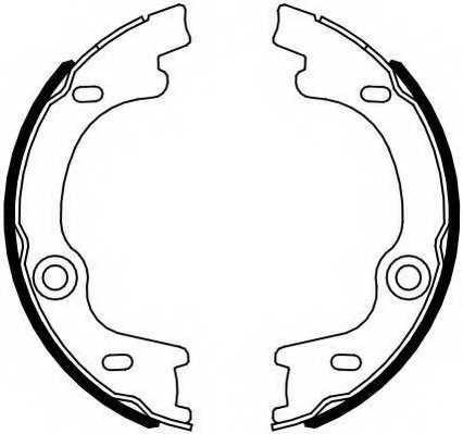 Комплект колодок стояночной тормозной системы FERODO FSB4099 - изображение